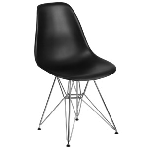 Bailey Side Chair with Chrome Base