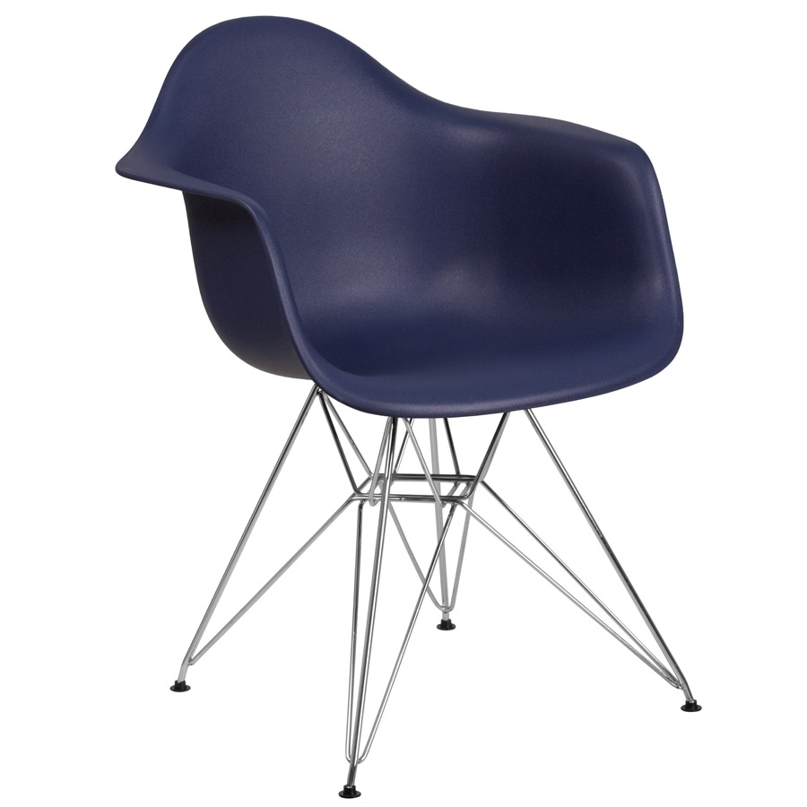 Bailey Arm Chair With Chrome Base Bailey Collection
