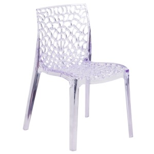Eden Transparent Stacking Side Chair