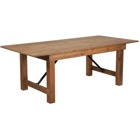 Antique Rustic Solid Pine Folding Farm Table