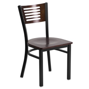 Slat Back Chair with Wood Back and Seat