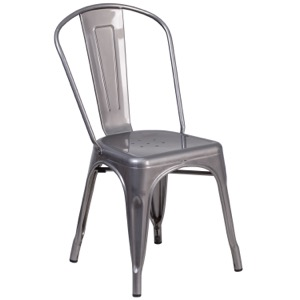 Grayson Clear Coated Metal Indoor Chair