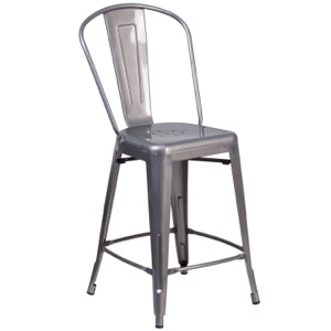 Grayson Clear Coated Metal Counter Stool