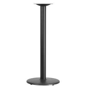 "18"" Round Restaurant Table Base with 3'' Diameter Column-Bar Height"