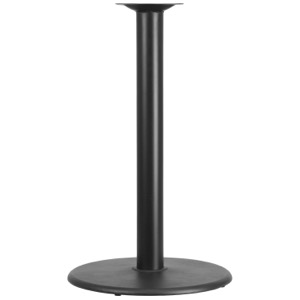 "24"" Round Restaurant Table Base with 4'' Diameter Column-Bar Height"
