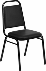 Trapezoidal  Back Stacking Banquet Chair with 1.5'' Thick Seat