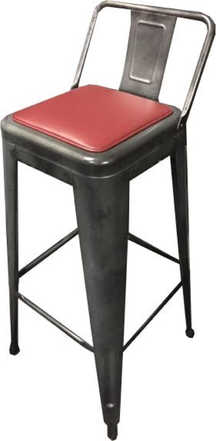 Tabouret Tolix Replica Galvanized Steel Bar Stool
