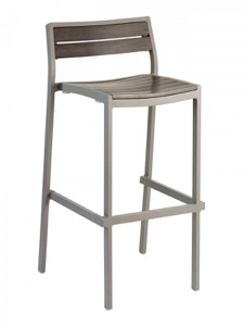 Sahara Outdoor Aluminum Barstool-Stackable