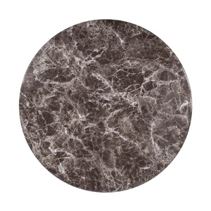 Round Grey Marble Laminate Table Top